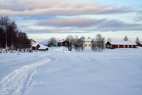 Winterlandschaft in Lappland